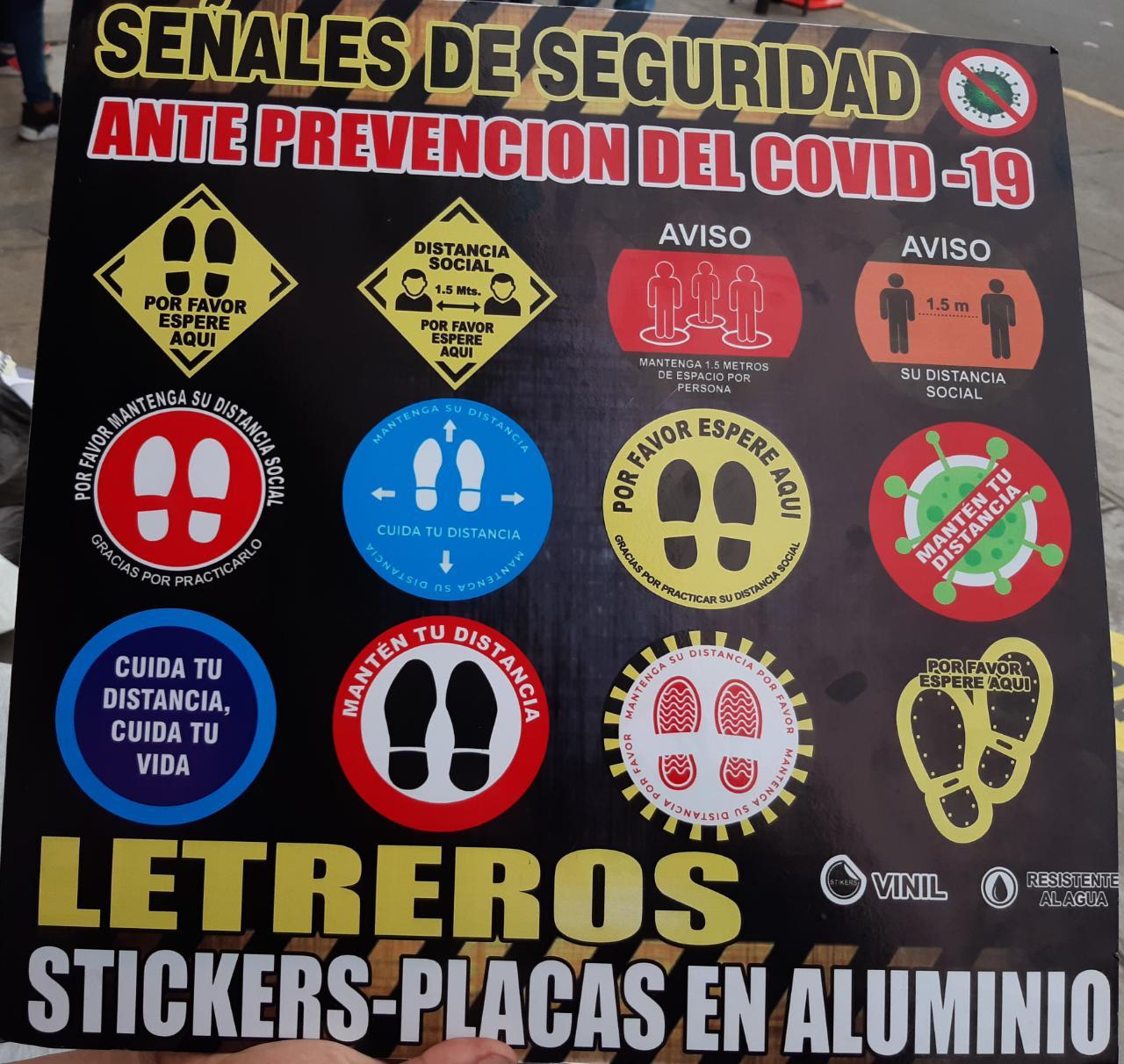 Señalización, Sticker en Vinil para Protocolo Inicio Actividades En Lima, Callao