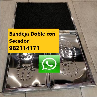Bandeja, Pediluvio Desinfectante Acero Inoxidable Plegable Doble con Secador de CalzadoAnti Covid-19, Coronavirus para Protocolo Inicio de Actividades en Lima